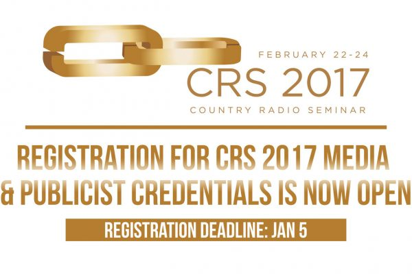 Registration for CRS 2017 Media & Publicist Credentials Is Now Open!