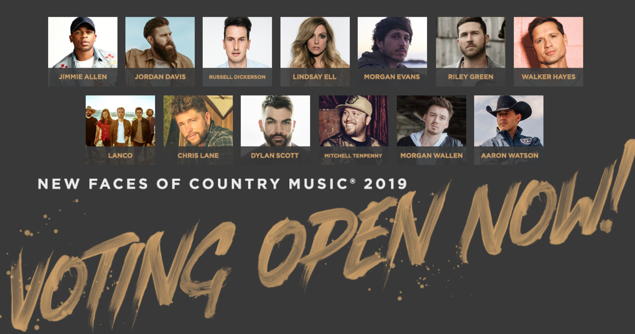 79459557772 15, 2018) – Voting for the CRS New Faces of Country® Music Class of 2019 is now  open. Country radio station employees that wish to cast their vote can do  so ...